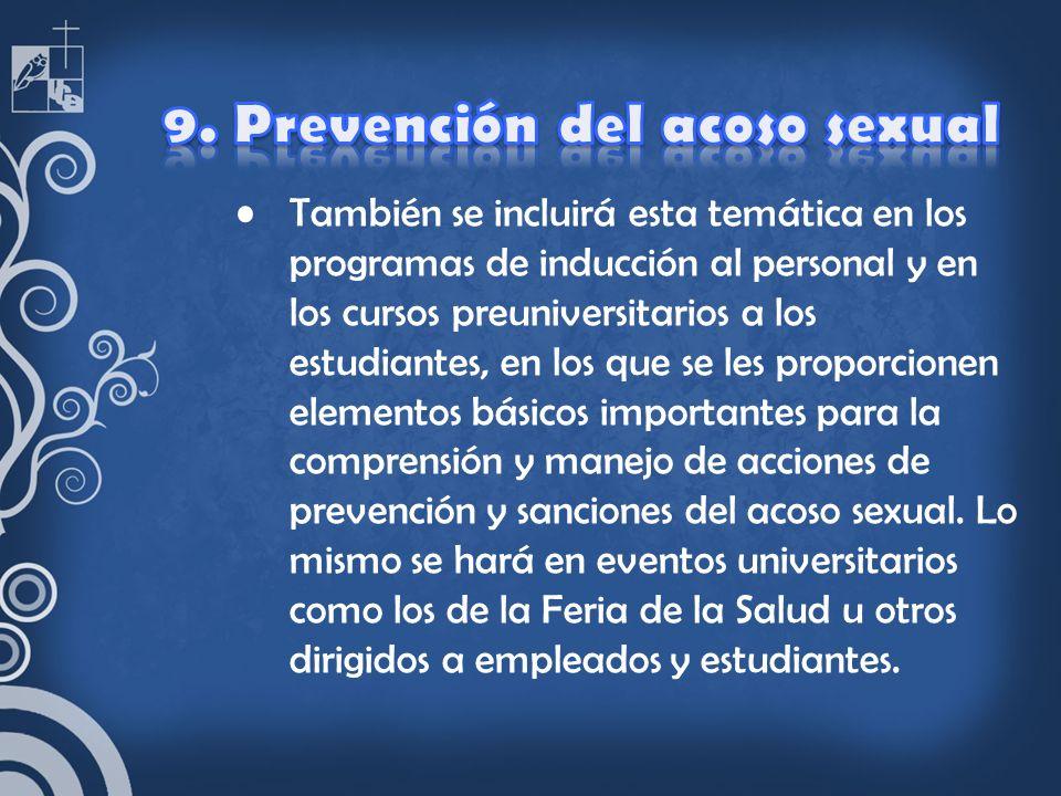 9. Prevención del acoso sexual
