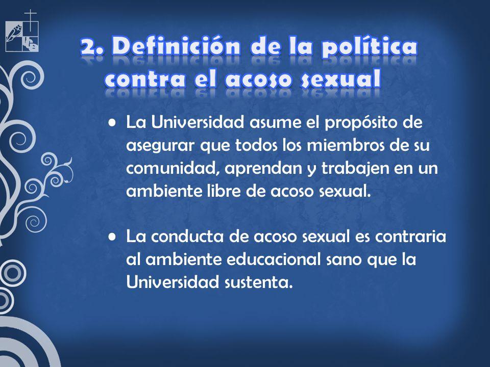 2. Definición de la política contra el acoso sexual