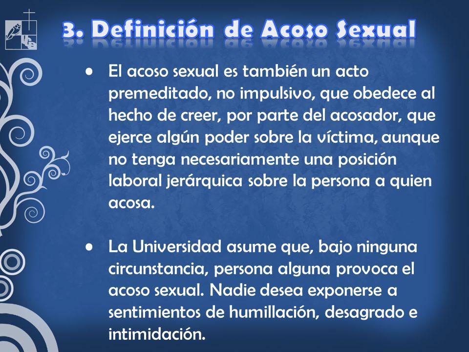 3. Definición de Acoso Sexual
