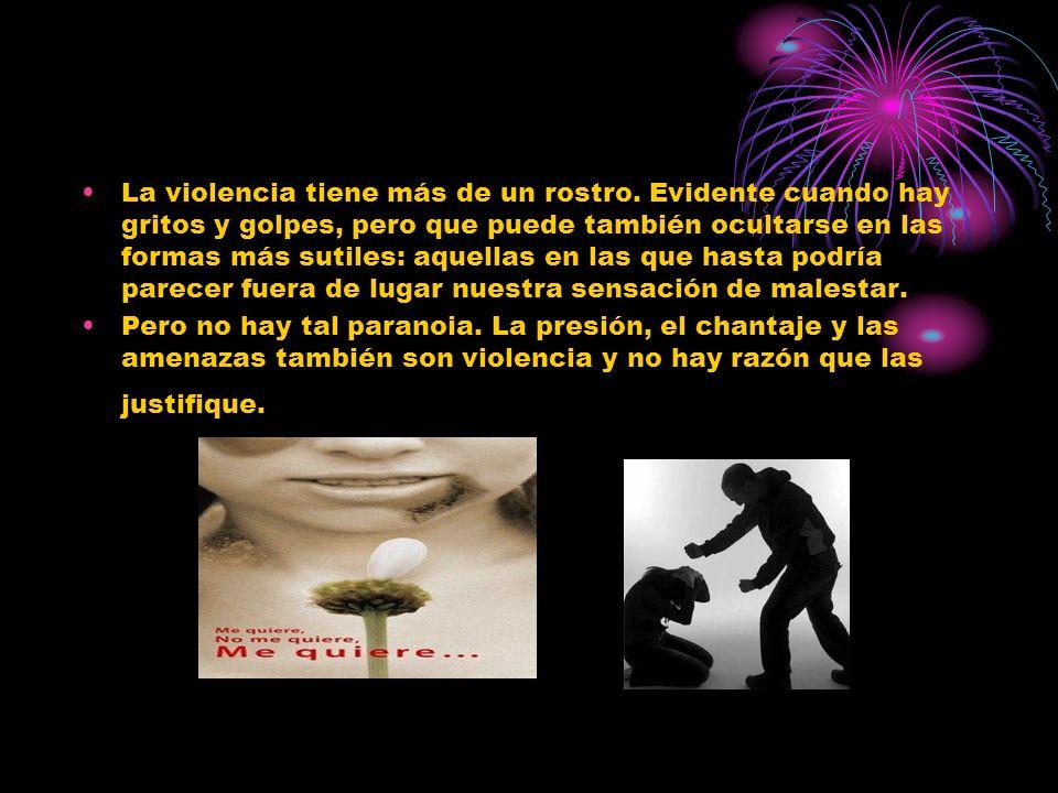 La violencia tiene más de un rostro