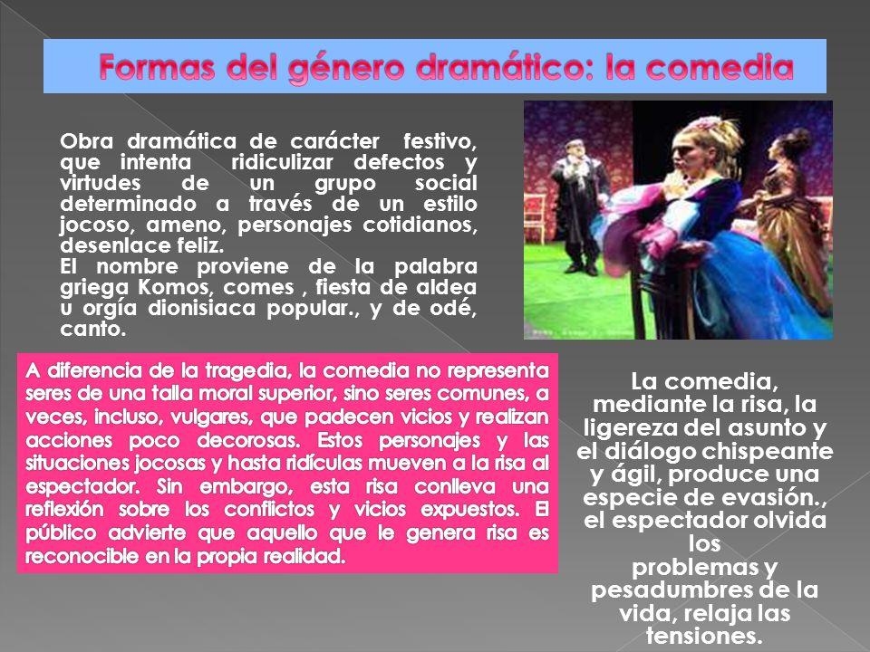 Formas del género dramático: la comedia