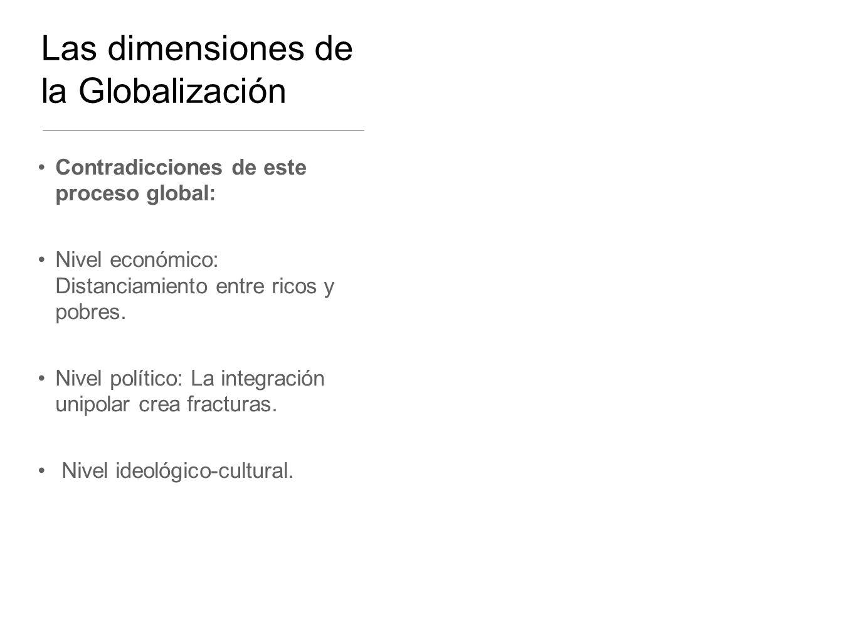 Las dimensiones de la Globalización