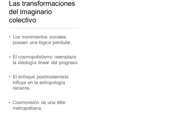 Las transformaciones del imaginario colectivo