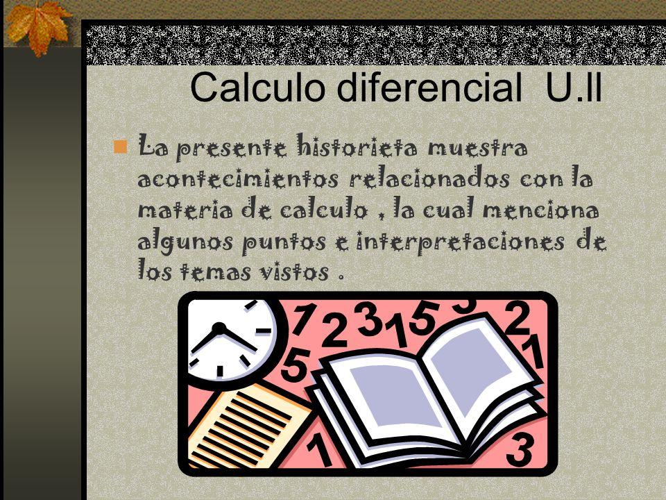 Calculo diferencial U.ll