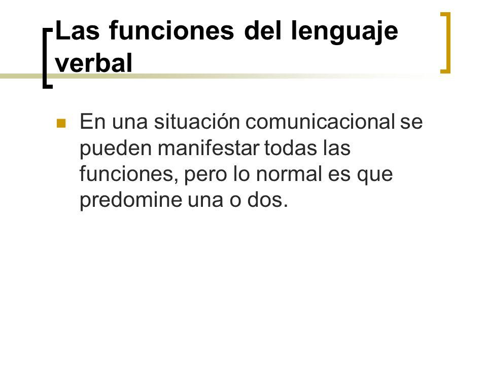 Las funciones del lenguaje verbal