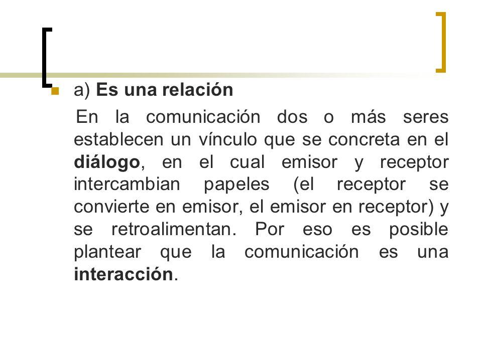 a) Es una relación