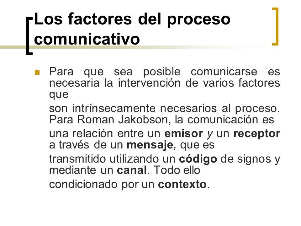 Los factores del proceso comunicativo