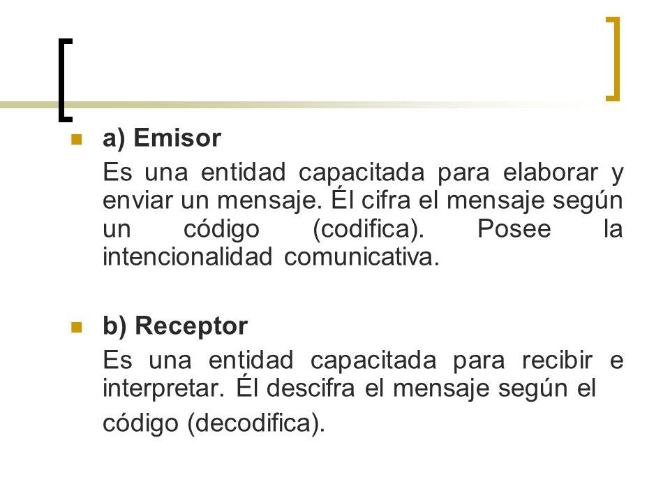 a) Emisor