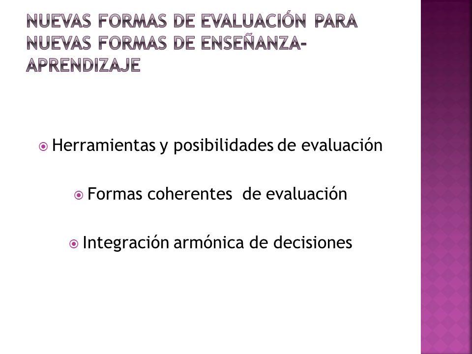 Nuevas formas de evaluación para nuevas formas de enseñanza-aprendizaje
