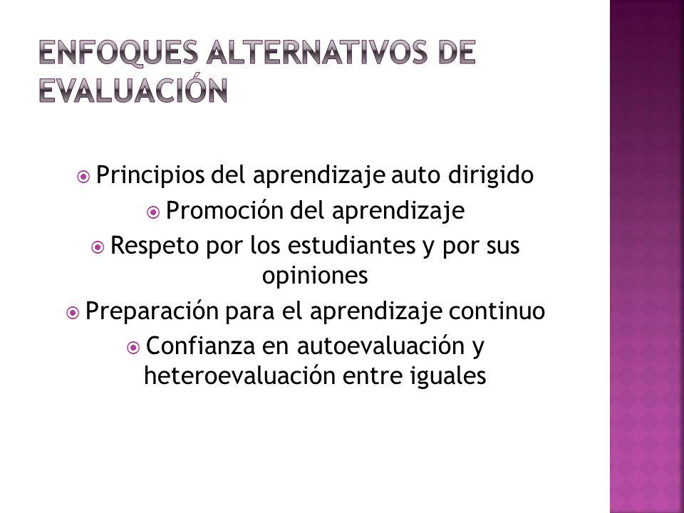 Enfoques alternativos de evaluación