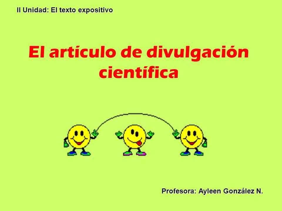El artículo de divulgación científica