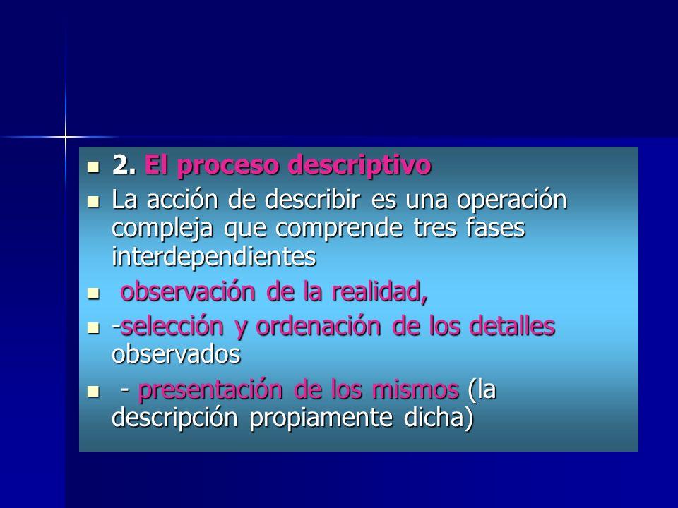 2. El proceso descriptivo