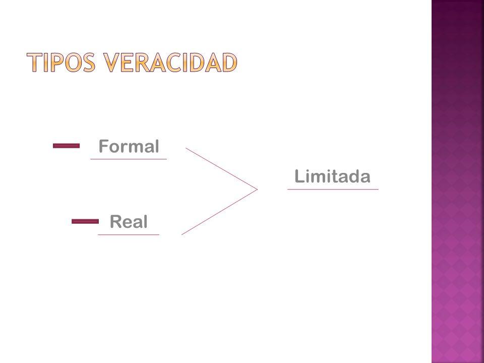 Tipos Veracidad Formal Limitada Real