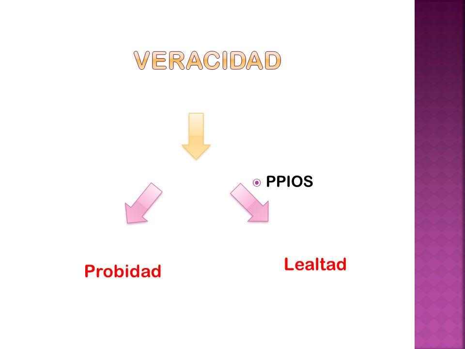 Veracidad PPIOS Lealtad Probidad