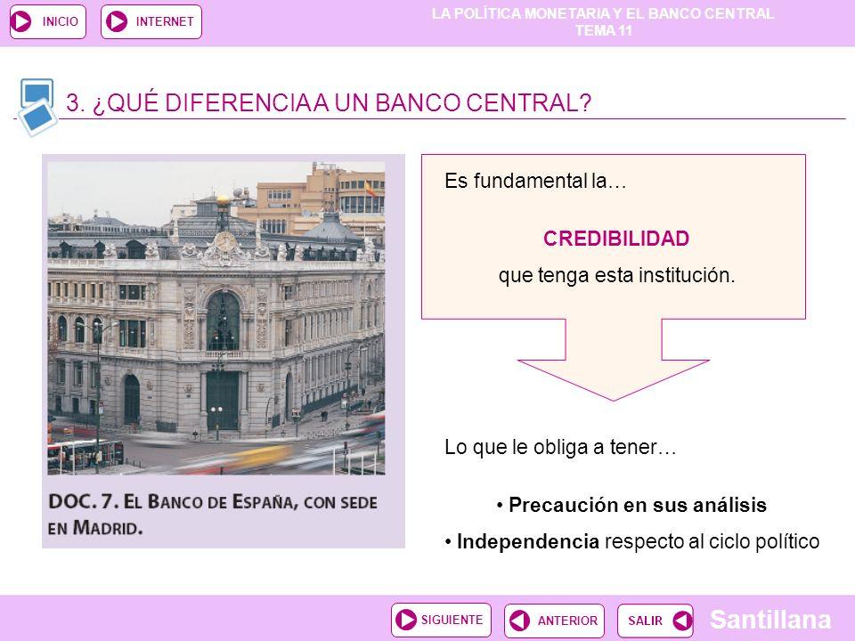 3. ¿QUÉ DIFERENCIA A UN BANCO CENTRAL