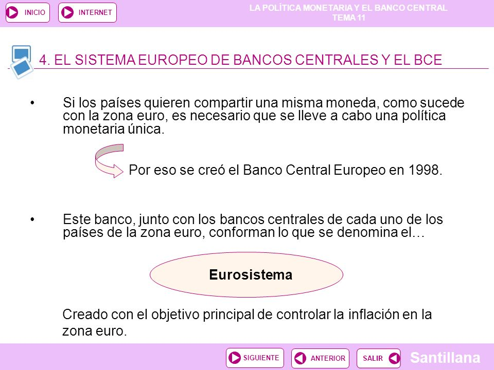 4. EL SISTEMA EUROPEO DE BANCOS CENTRALES Y EL BCE