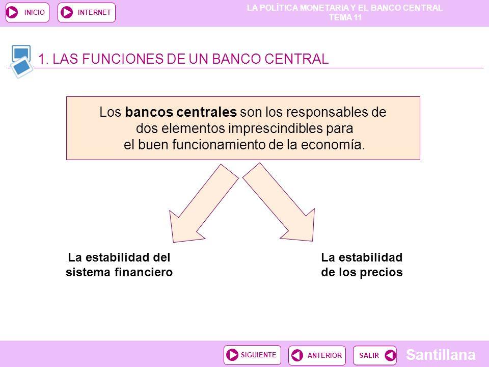 La estabilidad del sistema financiero La estabilidad de los precios