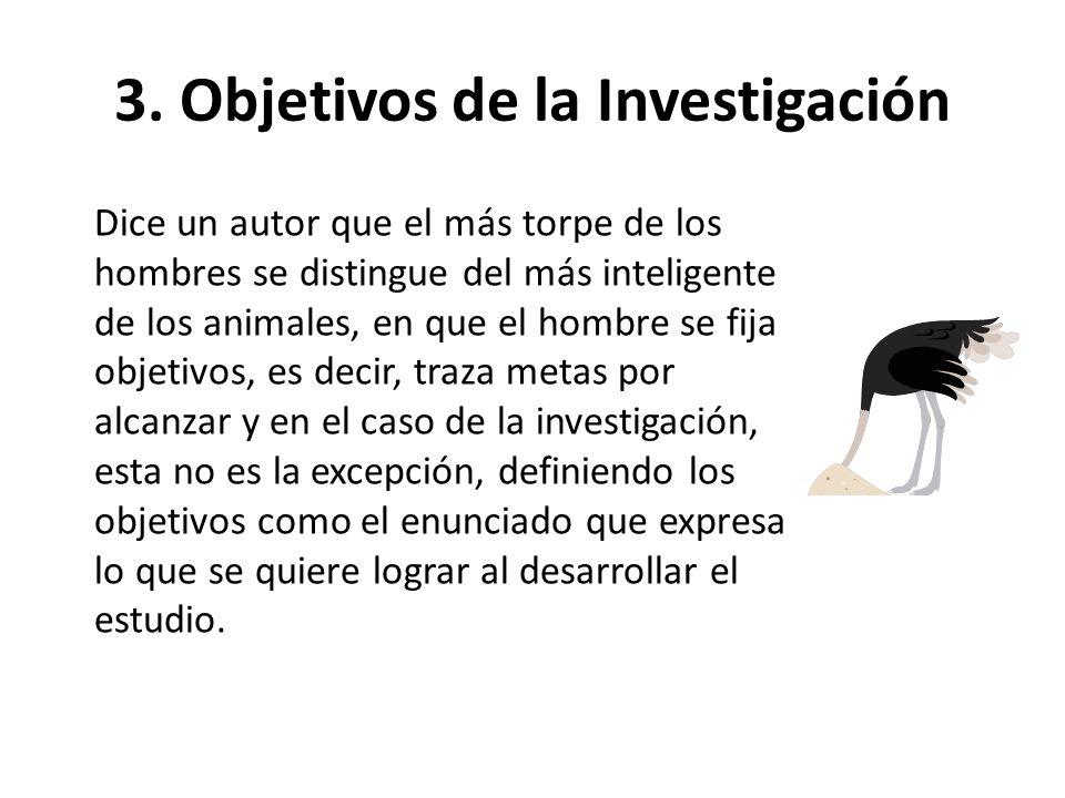 3. Objetivos de la Investigación