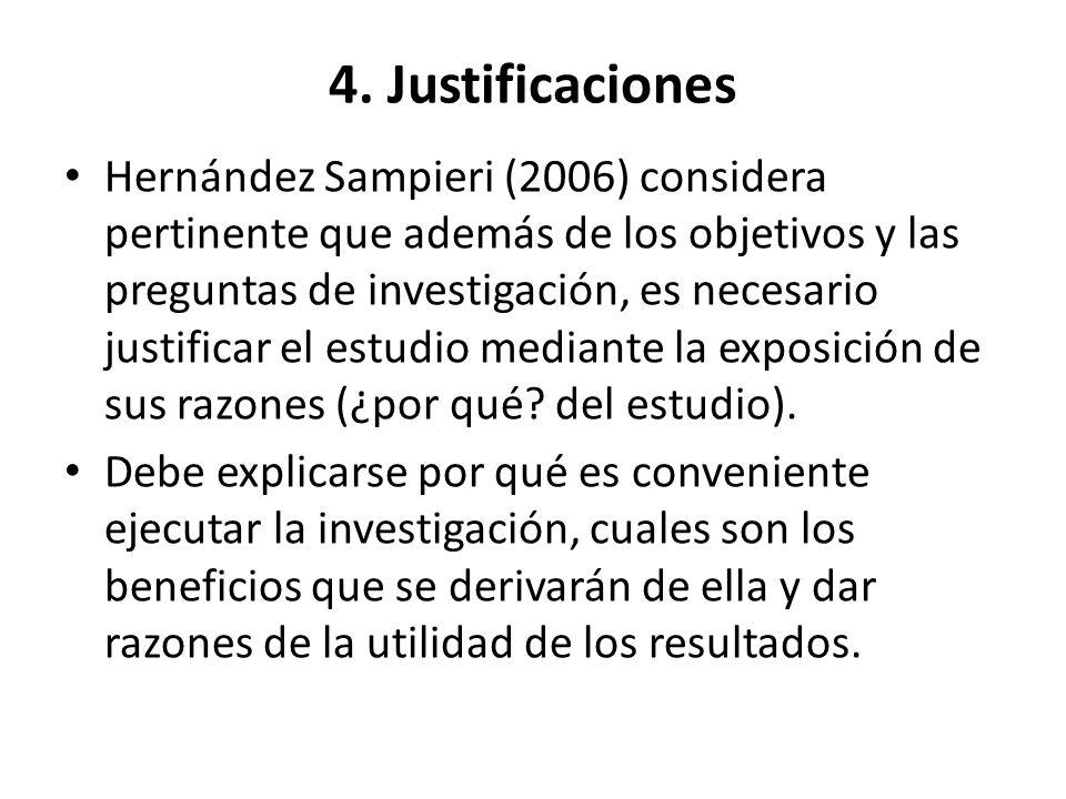 4. Justificaciones