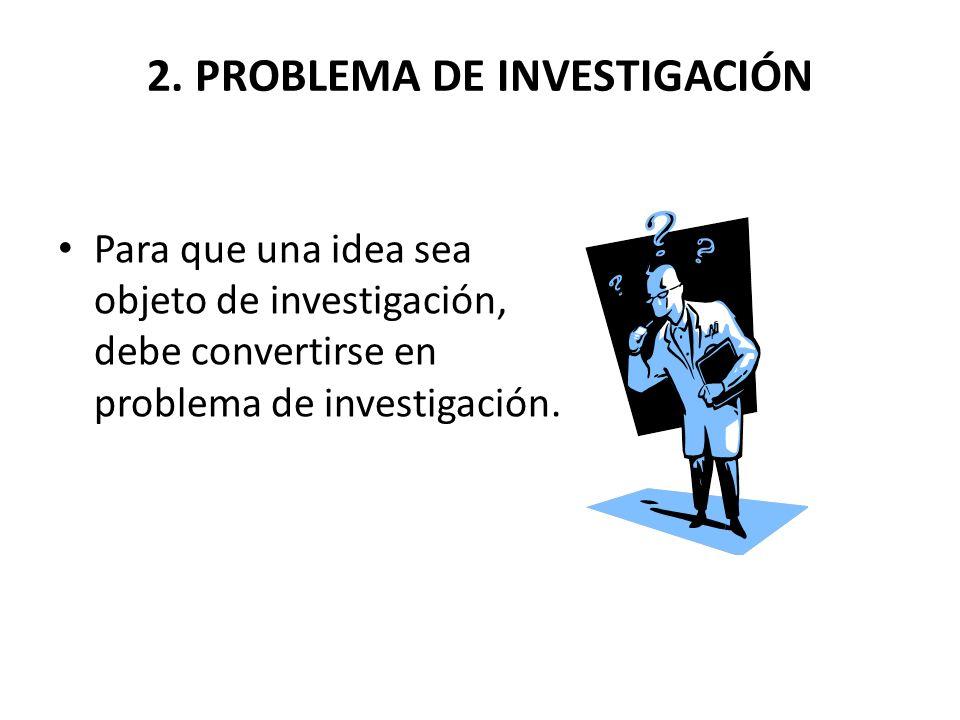 2. PROBLEMA DE INVESTIGACIÓN