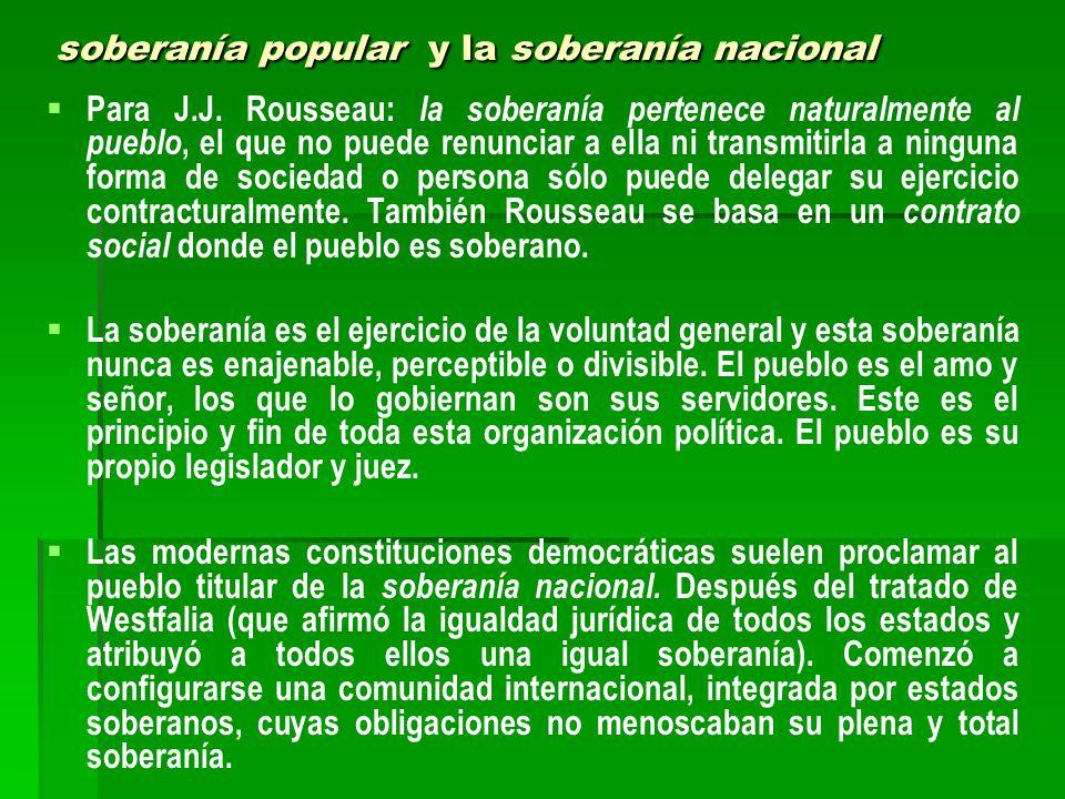 soberanía popular y la soberanía nacional