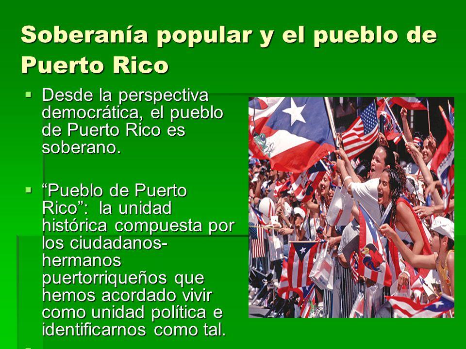 Soberanía popular y el pueblo de Puerto Rico