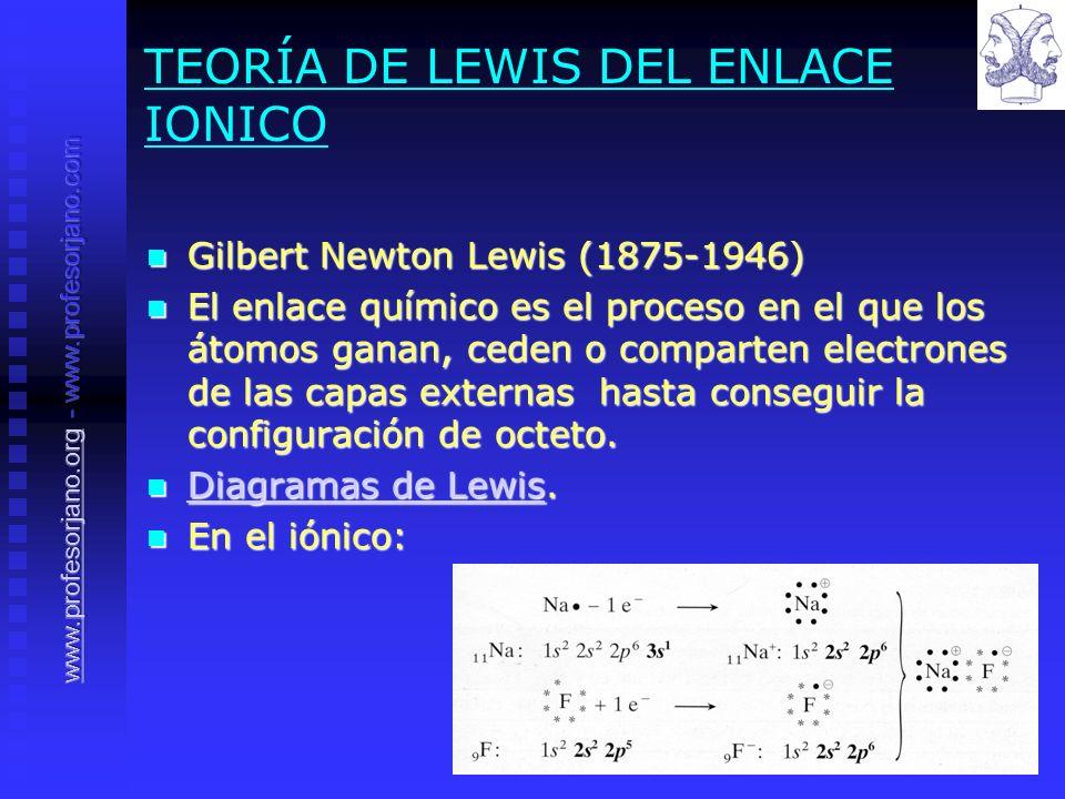 TEORÍA DE LEWIS DEL ENLACE IONICO