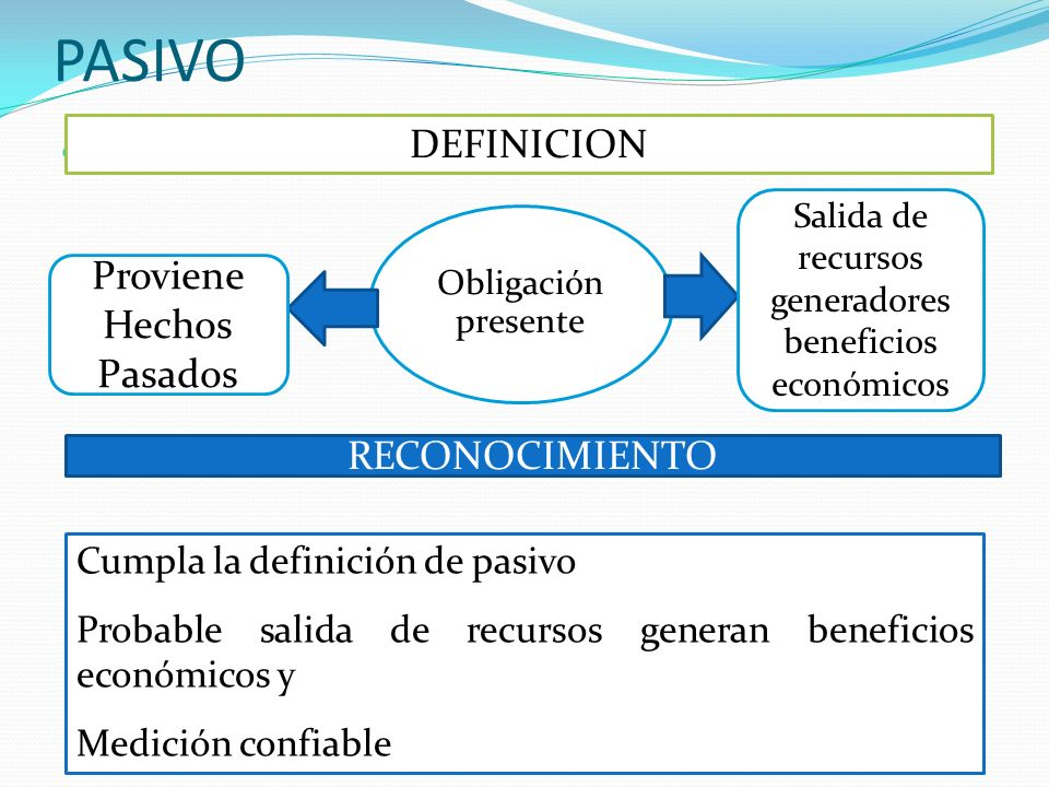 Salida de recursos generadores beneficios económicos