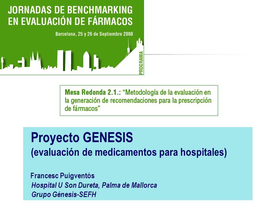 (evaluación de medicamentos para hospitales)