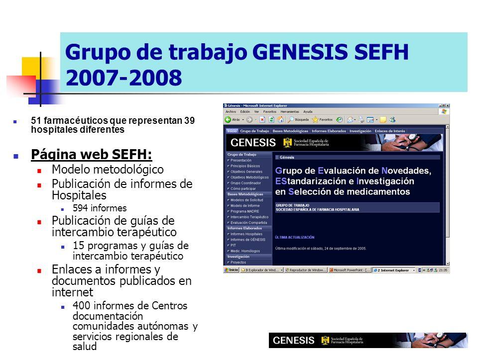 Grupo de trabajo GENESIS SEFH 2007-2008