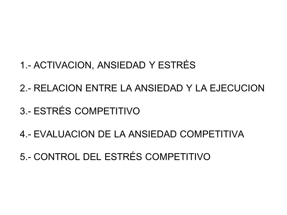 1. - ACTIVACION, ANSIEDAD Y ESTRÉS 2