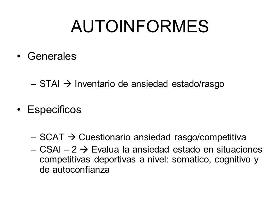 AUTOINFORMES Generales Especificos