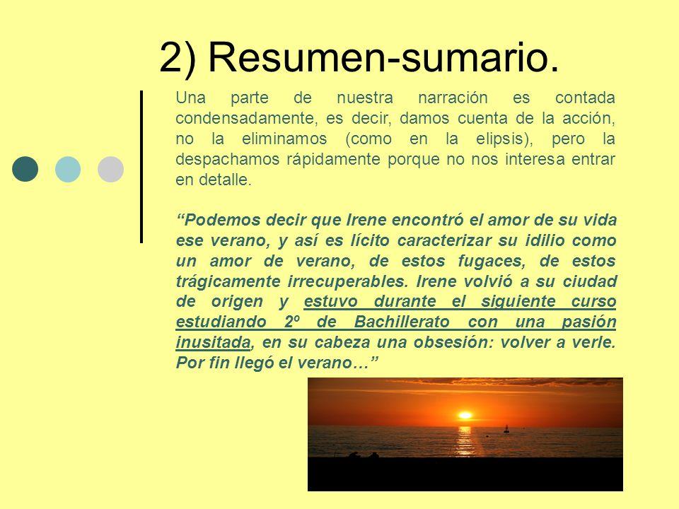 2) Resumen-sumario.