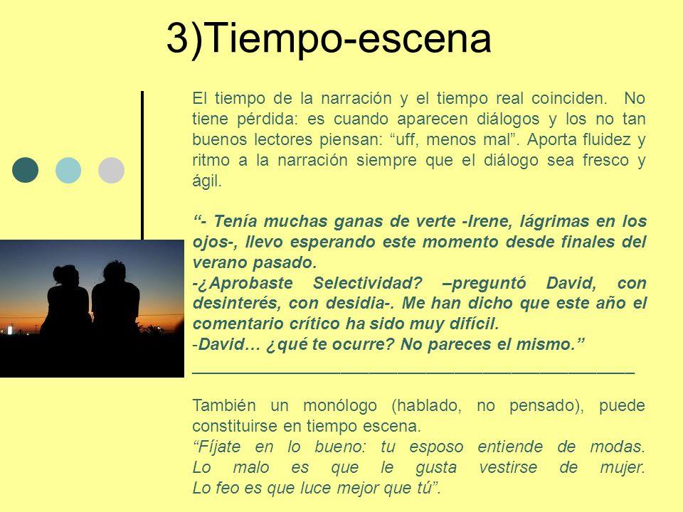 3)Tiempo-escena