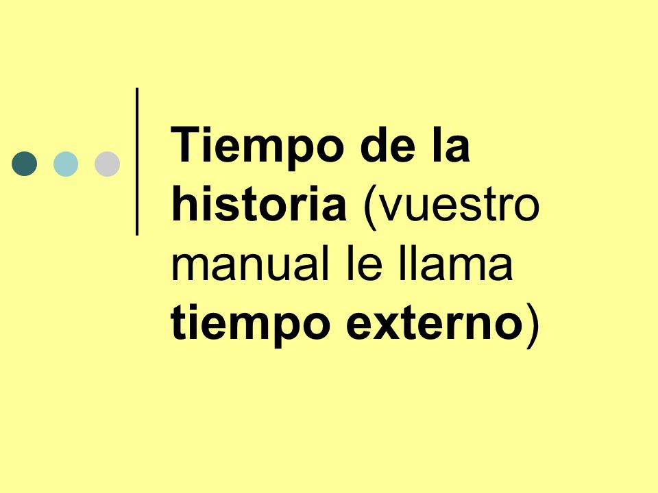Tiempo de la historia (vuestro manual le llama tiempo externo)