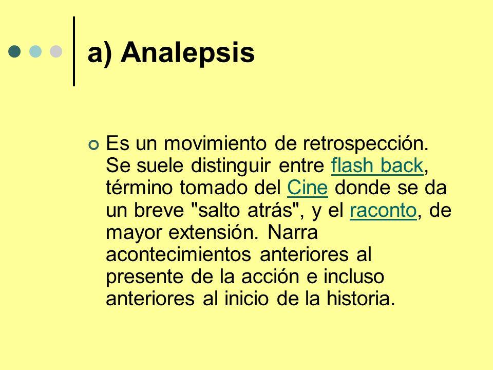 a) Analepsis
