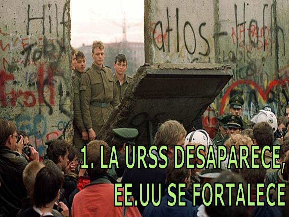1. LA URSS DESAPARECE, EE.UU SE FORTALECE