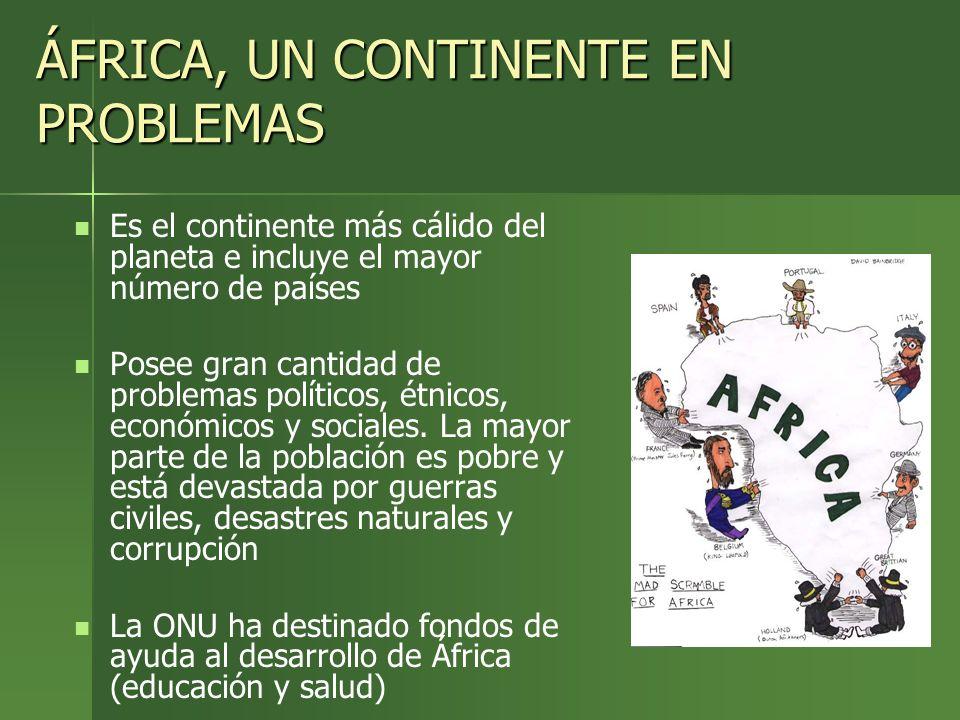 ÁFRICA, UN CONTINENTE EN PROBLEMAS