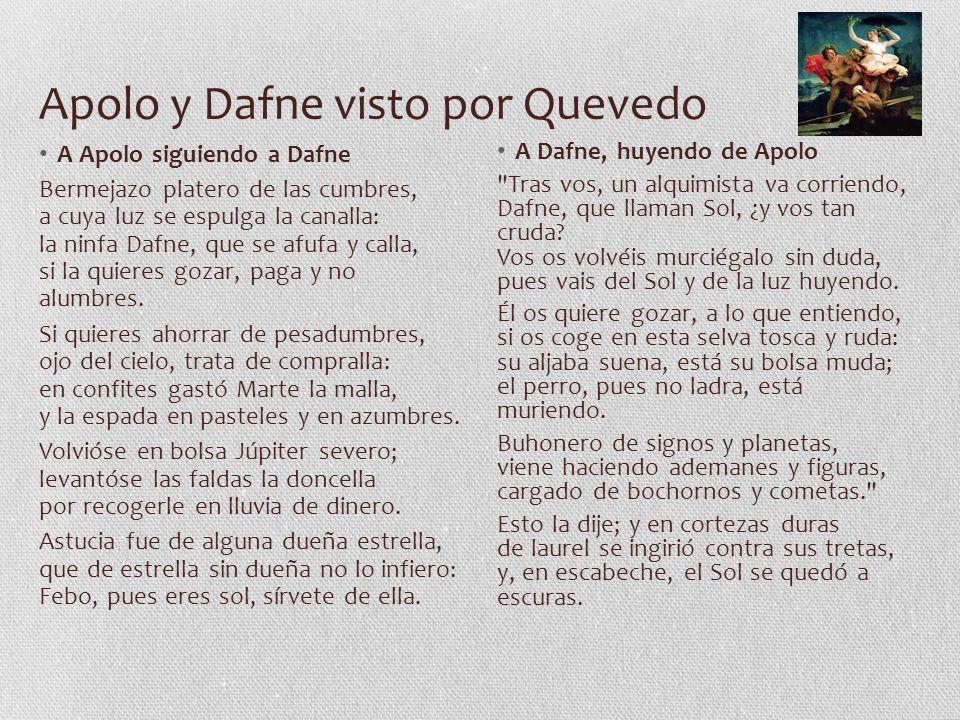 Apolo y Dafne visto por Quevedo
