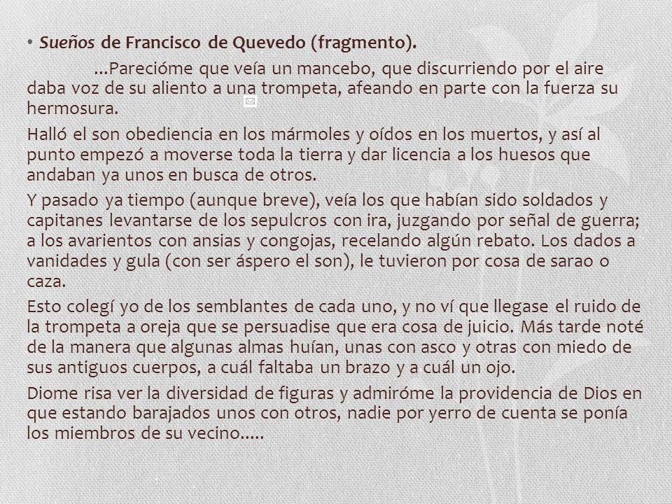 Sueños de Francisco de Quevedo (fragmento).