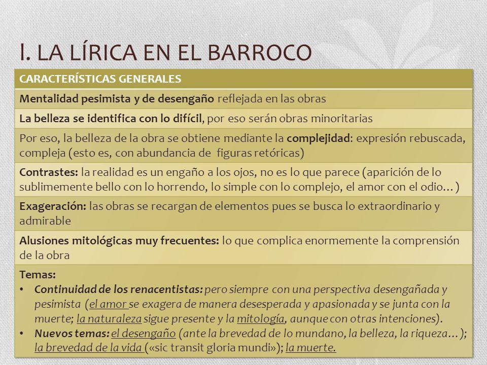 l. LA LÍRICA EN EL BARROCO