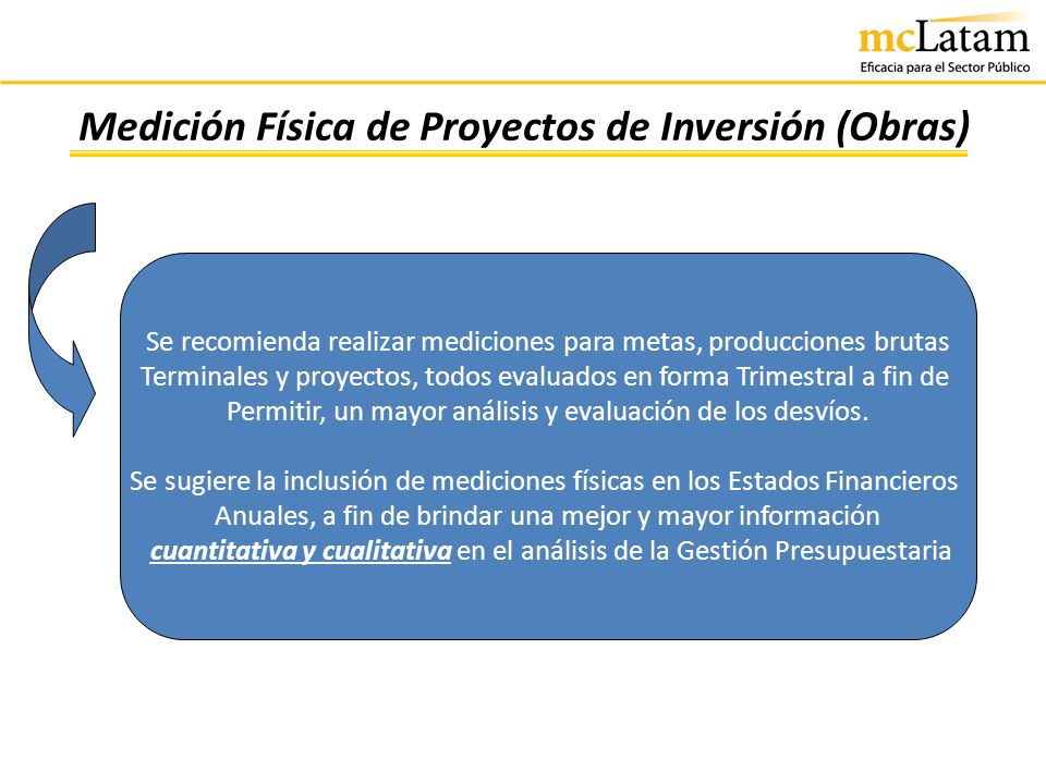 Medición Física de Proyectos de Inversión (Obras)