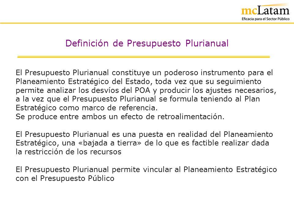 Definición de Presupuesto Plurianual