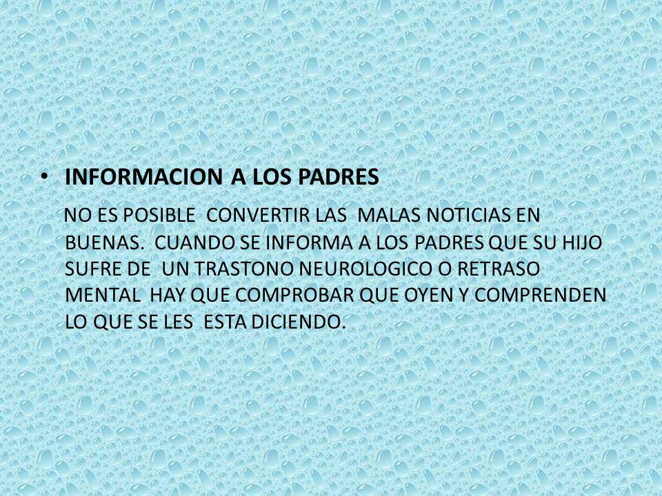 INFORMACION A LOS PADRES