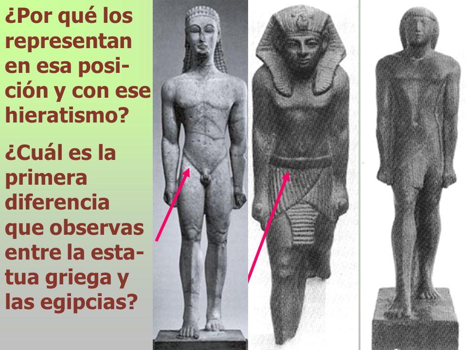 ¿Por qué los representan en esa posi-ción y con ese hieratismo