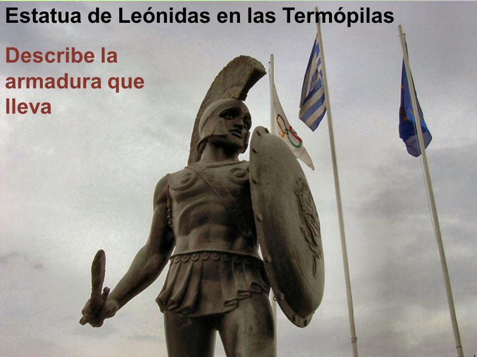 Estatua de Leónidas en las Termópilas
