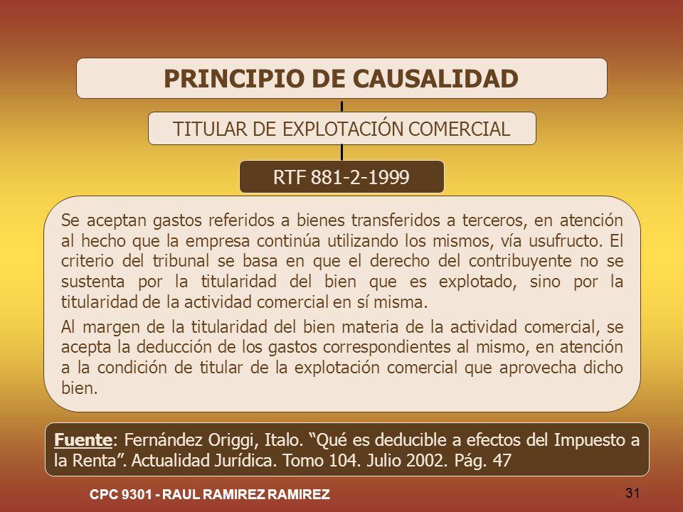 PRINCIPIO DE CAUSALIDAD