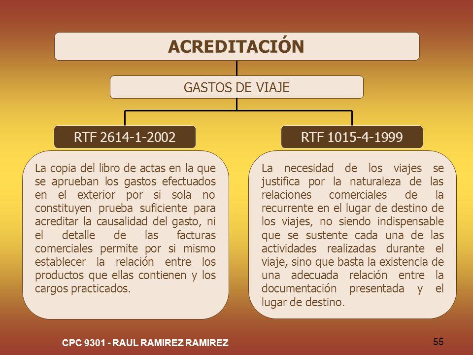 CPC 9301 - RAUL RAMIREZ RAMIREZ