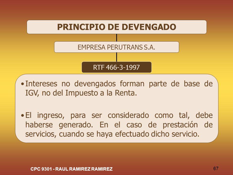 PRINCIPIO DE DEVENGADO