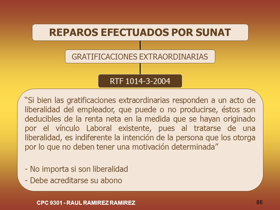 REPAROS EFECTUADOS POR SUNAT